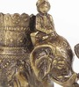 Handecor Brown Brass Royal Elephant Savari Pen Holder