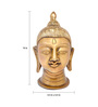 Handecor Yellow Brass Divine Buddha Head Showpiece