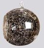 Importwala Brown Hanging Glass Ball Big Antique Tea Light Holder