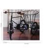 Hanumant Black Metal Iran Tricycle Showpiece
