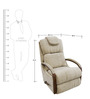 Harbor Town Recliner with Ivory Fabric Cover by La-Z-Boy
