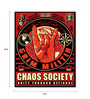Hashtag Decor Wooden 8 x 10 Inch Chaos Society Framed Digital Print