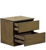 Emilio Bed Side Table in Belgian Oak Finish by CasaCraft