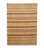 HDP Beige & Brown Wool 80 x 56 Inch Hand Woven Loom Knotted Carpet