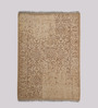 HDP Beige & Brown Wool 80 x 56 Inch Indian Hand Made Knotted Carpet
