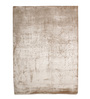 HDP Beige Viscose 96 x 68 Inch Hand Woven Loom Knotted Carpet