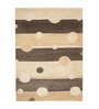 HDP Beige Wool 80 x 56 Inch Indian Hand Tufted Carpet