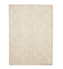 HDP Beige Wool 80 x 56 Inch Indian Hand Woven Carved Carpet