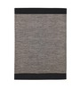 HDP Black & Grey Cotton 92 x 64 Inch Hand Woven Flat Weave Area Rug