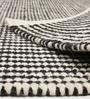 HDP Black & White Wool & Cotton 55 x 79 Inch Hand Made Kelim Carpet