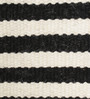HDP Black & White Wool 92 x 64 Inch Hand Made Flat Weave Carpet