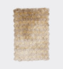 HDP Cream Polyester 48 x 32 Inch Hand Made Tufted Shaggy Carpet
