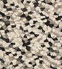 HDP Grey & Black Wool 66 x 28 Inch Hand Woven Pebble Carpet