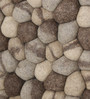 HDP Grey & Brown Wool 32 x 20 Inch Reversible Felt Ball Bed Side Carpet