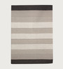 HDP Grey & Brown Wool 80 x 56 Inch Hand Woven Flat Weave Area Rug