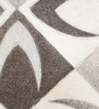 HDP Grey and Ivory Leather 80 x 56 Inch Hand Made Carpet