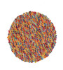 HDP Multicolour Wool 36 Inch Hand Woven Pebble Round Carpet