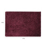 HDP Purple Polyester 47 x 67 Inch Hand Made Carpet