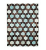 HDP Sky Blue Leather 72 x 52 Inch Hand Made Carpet