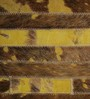 HDP Tan & Yellow Leather 72 x 48 Inch Hand Made Carpet