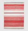 Valparaiso Area Rug in white and red by CasaCraft