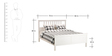Henri King Size Bed in White Colour by Asian Arts