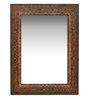 Heera Hastkala Multicolour Metal & MDF Ethnic Design Decorative Mirror
