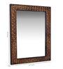 Heera Hastkala Multicolour Wooden Meena Painted Decorative Mirror