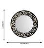Height of Designs Black & Gold Engineered Wood Tribal Mirror