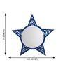 Height of Designs Blue Engineered Wood Star Mirror