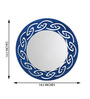 Height of Designs Blue Engineered Wood Tribal Mirror