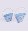 Height of Designs Blue Iron Bucket Planter Set