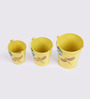 Height of Designs Yellow Iron Planter - Set of 3