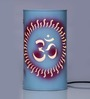 Height of Designs om & swastika White Acrylic Table Lamp
