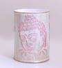 Height of Designs Pink & White Iron Budha Side Night Light