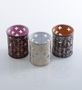 Height of Designs Multicolour Iron Plus Candle Votive - Set of 3
