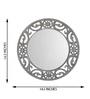Height of Designs White & Gold Engineered Wood Eclectic Mirror