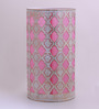 Height of Designs White and Pink Iron Abstract Table Lamp
