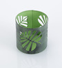 Height of Designs Green Iron Wild Leaf Candle Votive
