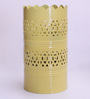 Height of Designs Yellow Iron Vertical Cutwork Table Lamp