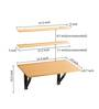 Hemming Folding Wall Mounted Study cum Laptop Table in Beech Finish by Bluewud