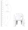 Hexo Chair Set of Two in White Colour By Attro