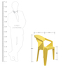 Hexo Chair Set of Two in Yellow Colour By Attro