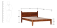 Hiranya Handcrafted Queen Size Bed in Honey Oak Finish by Mudramark