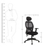 High Back Executive Chair with Head Rest in Black Colour by KS