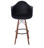 Hiroko Bar Chair (Set of 2) in Black Colour by Mintwud