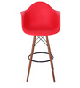 Hiroko Bar Chair (Set of 2) in Red Colour by Mintwud