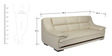 Hola Three Seater Sofa in Cream Colour by Home City