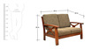 Winston Solidwood Two Seater Sofa by HomeTown