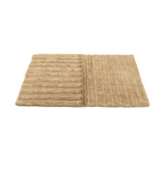 HomeFurry Dark Beige H &V Stripes Bath Mat